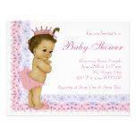 Fiesta de bienvenida al bebé dulce de los rosas be comunicado personalizado