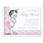 Fiesta de bienvenida al bebé dulce de los rosas anuncio