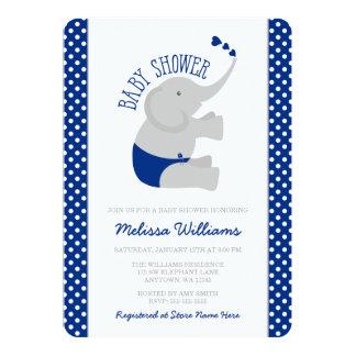 """Fiesta de bienvenida al bebé dulce del elefante invitación 5"""" x 7"""""""