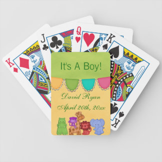 Fiesta de bienvenida al bebé dulce del safari de l cartas de juego