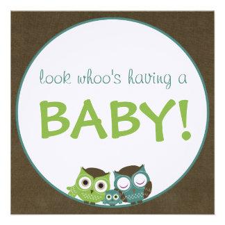 Fiesta de bienvenida al bebé el del búho verde a anuncio
