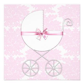 Fiesta de bienvenida al bebé elegante Invitatio de Anuncio