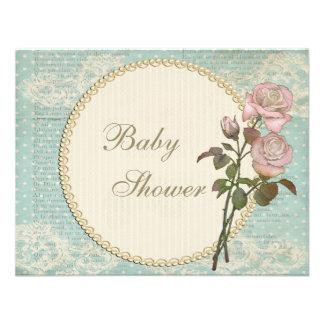 Fiesta de bienvenida al bebé elegante lamentable d comunicados personalizados