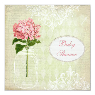 Fiesta de bienvenida al bebé elegante lamentable comunicado personalizado