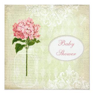 """Fiesta de bienvenida al bebé elegante lamentable invitación 5.25"""" x 5.25"""""""