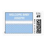 Fiesta de bienvenida al bebé en azul