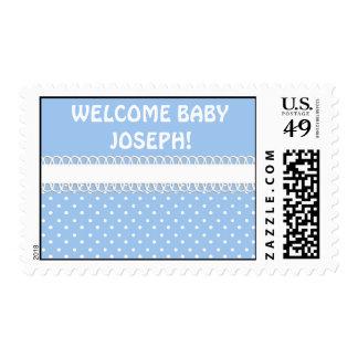 Fiesta de bienvenida al bebé en azul envio