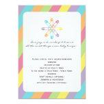 Fiesta de bienvenida al bebé en colores pastel del invitación 12,7 x 17,8 cm
