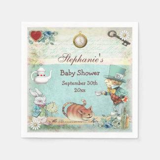 Fiesta de bienvenida al bebé enojada personalizada servilleta desechable