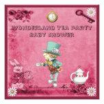Fiesta de bienvenida al bebé enojada rosada de la  invitacion personalizada