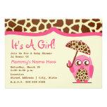 Fiesta de bienvenida al bebé - estampado de girafa invitación