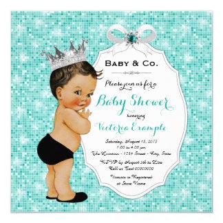 """Fiesta de bienvenida al bebé étnica azul del bebé invitación 5.25"""" x 5.25"""""""
