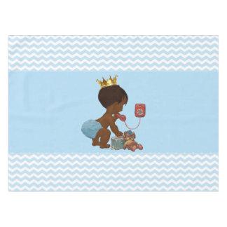 Fiesta de bienvenida al bebé étnica caprichosa de mantel de tela