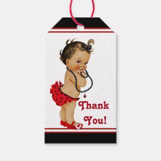 Fiesta de bienvenida al bebé étnica de la etiquetas para regalos