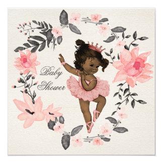 Fiesta de bienvenida al bebé étnica de la invitación 13,3 cm x 13,3cm