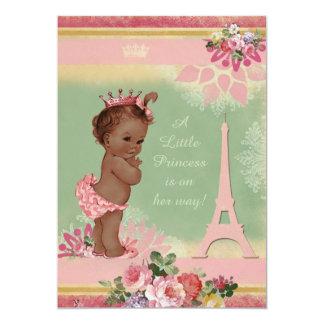 """Fiesta de bienvenida al bebé étnica de la princesa invitación 5"""" x 7"""""""