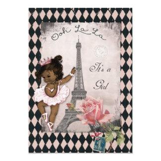 Fiesta de bienvenida al bebé étnica de la torre comunicado personalizado