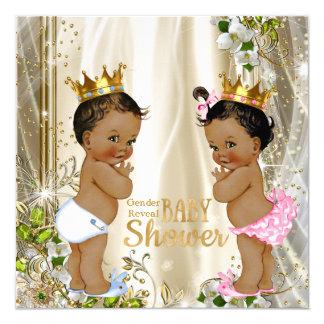 """Fiesta de bienvenida al bebé étnica del príncipe invitación 5.25"""" x 5.25"""""""