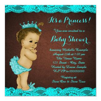 Fiesta de bienvenida al bebé étnica invitación 13,3 cm x 13,3cm