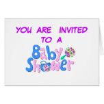 Fiesta de bienvenida al bebé felicitacion