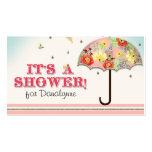 Fiesta de bienvenida al bebé floral moderna del pa tarjetas personales
