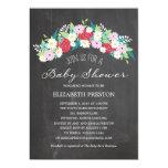 Fiesta de bienvenida al bebé floral rústica de la comunicados