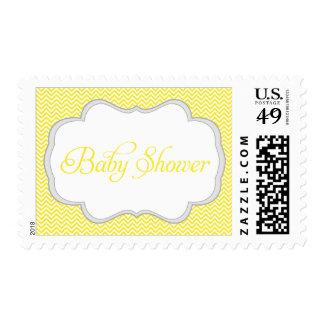 Fiesta de bienvenida al bebé gris amarilla del envio
