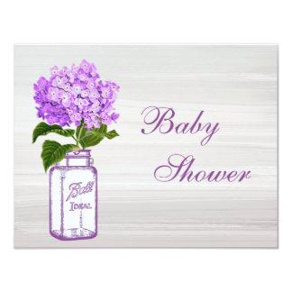 Fiesta de bienvenida al bebé gris elegante del invitación 10,8 x 13,9 cm