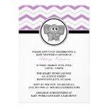 Fiesta de bienvenida al bebé gris púrpura de Chevr Comunicados Personales