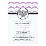 Fiesta de bienvenida al bebé gris púrpura de comunicados personales