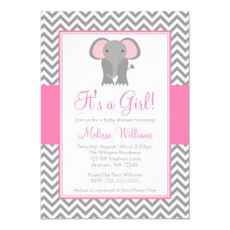 Fiesta de bienvenida al bebé gris rosada del chica