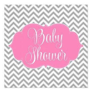 Fiesta de bienvenida al bebé gris rosada moderna d
