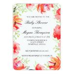 """Fiesta de bienvenida al bebé hermosa de la flor de invitación 5"""" x 7"""""""