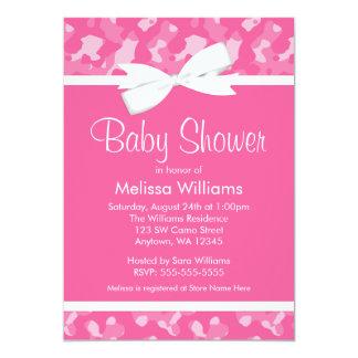 Fiesta de bienvenida al bebé impresa camuflaje anuncios personalizados