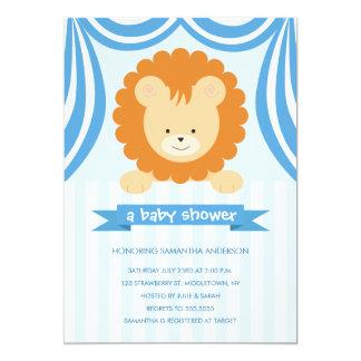 Fiesta de bienvenida al bebé Inviation - muchacho Comunicados