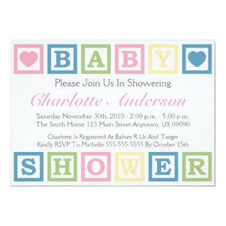 Fiesta de bienvenida al bebé Invitiations (rosa) Invitación