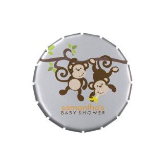 Fiesta de bienvenida al bebé juguetona de los jarrones de dulces