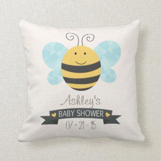 Fiesta de bienvenida al bebé linda de la abeja cojín
