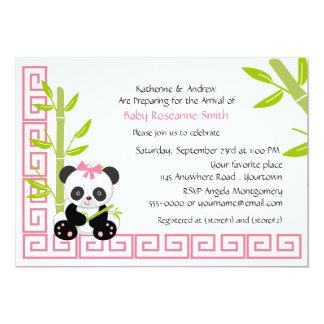 Fiesta de bienvenida al bebé linda de la panda del invitacion personal