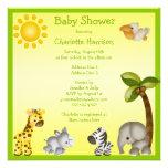 Fiesta de bienvenida al bebé linda de los animales invitacion personalizada