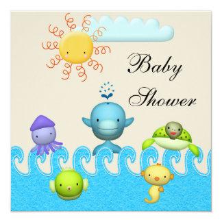 Fiesta de bienvenida al bebé linda de los animales comunicados personales