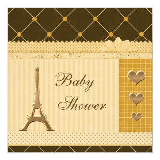 """Fiesta de bienvenida al bebé linda de los lunares invitación 5.25"""" x 5.25"""""""