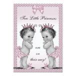 Fiesta de bienvenida al bebé linda de princesa invitacion personalizada