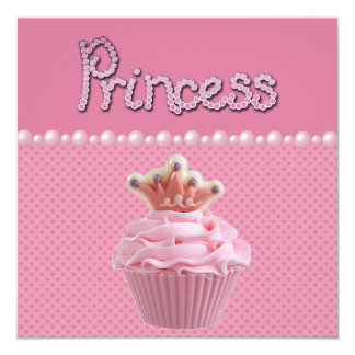 Fiesta de bienvenida al bebé linda de princesa invitación