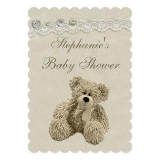 Fiesta de bienvenida al bebé linda del cordón del invitación 12,7 x 17,8 cm