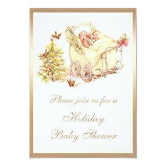 Fiesta de bienvenida al bebé linda del navidad del invitacion personal