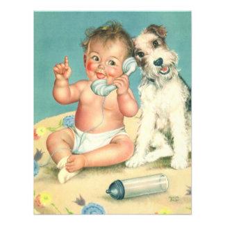 Fiesta de bienvenida al bebé linda del perro de pe comunicados personales