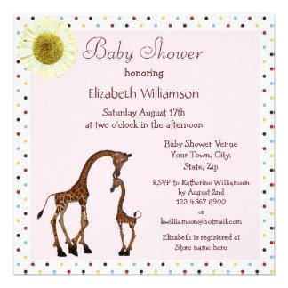 Fiesta de bienvenida al bebé linda del rosa de la comunicado personal