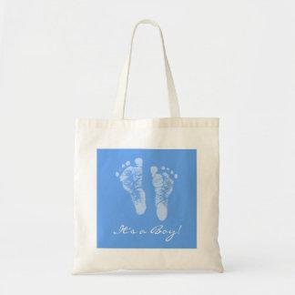 Fiesta de bienvenida al bebé linda sus huellas de  bolsa tela barata