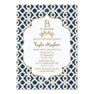 Fiesta de bienvenida al bebé marroquí del neutral invitación 12,7 x 17,8 cm